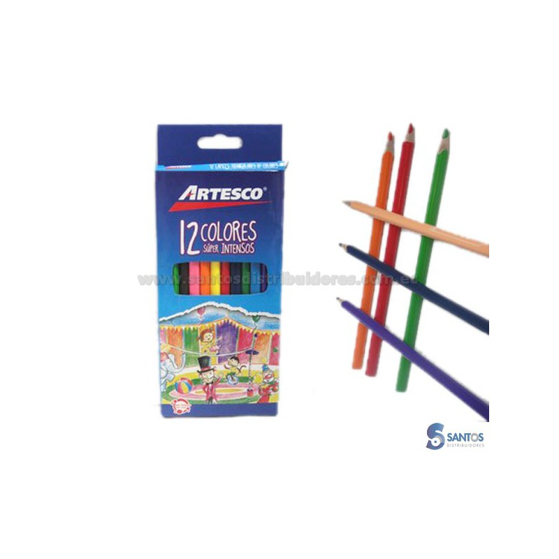 ARTESCO Lápices de color caja 12 u kids